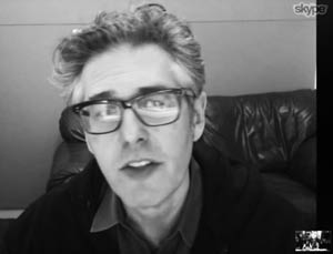 Ira Glass face on our Skype screen